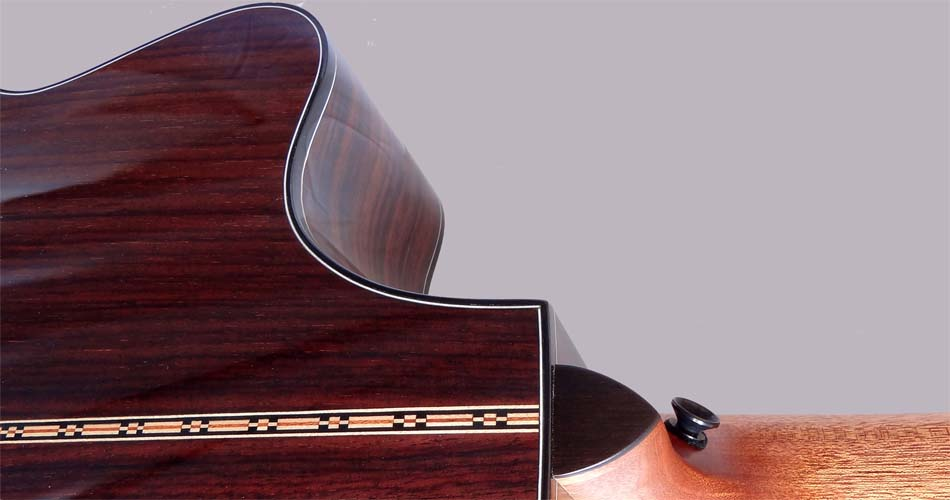 Bob Bernstein Model L cutaway and heel