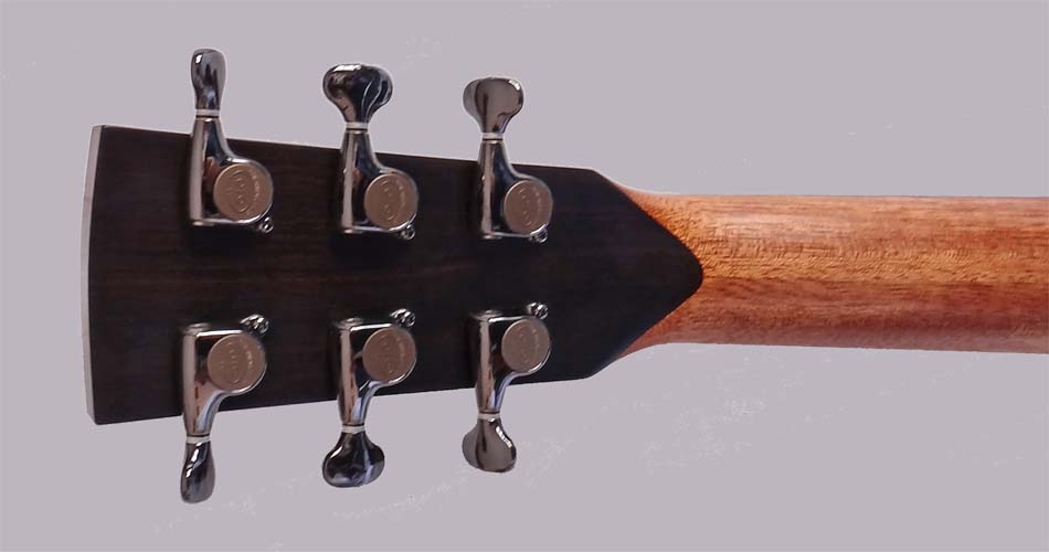 Bob Bernstein Model L headstock rear