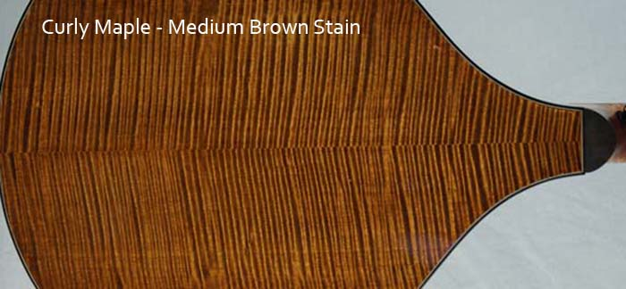 Curly Maple medium brown stain